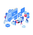 software web development isometric vector image vector image