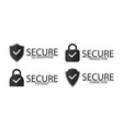 ssl encryption connection and transaction icon vector image