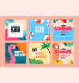 summer vibe web design template vector image vector image
