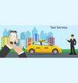 taxi driver yellow taxi vector image vector image