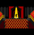 theater performer alone cartoon vector image