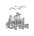 viking drakkar image transport ship vector image vector image