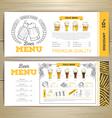 Beer bar menu design vector image