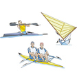 Water Sports Whitewater slalom Rowing and Sailing vector image