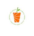 orange juice logo fresh vector image
