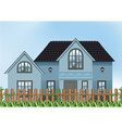 A single detached house vector image vector image