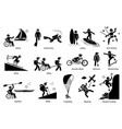 adaptive recreational activities for handicapped vector image vector image