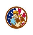 american handyman usa flag icon vector image vector image
