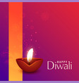 beautiful of burning diwali diya vector image vector image