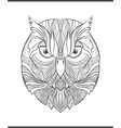 Bright colorful print with the sketch owl Adult vector image