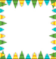 Bunting garland frame vector image