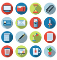 Business and office icons collection vector image