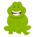 cartoon frog funny animal character vector image
