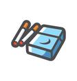 cigarette blue pack icon cartoon vector image