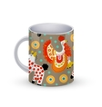 Coffee cup template with Beautiful vector image vector image