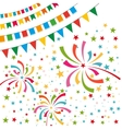Color pennant bunting collection triangular and