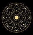 cosmic esoteric composition lines symbols vector image