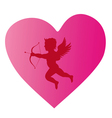 cupid silhouette 3 vector image vector image