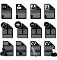 CV icons set vector image vector image