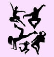 dancers silhouettes male and female vector image vector image