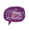 diwali festival poster with hand lettering in vector image vector image