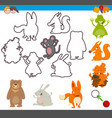 educational activity with animal vector image vector image