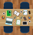 Empty workspace vector image vector image