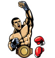 fighter champion vector image vector image
