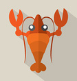 Flat Design Shrimp Icon vector image