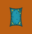 flat shading style icon plant cell vector image vector image