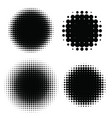 halftone patterns set halftone dots vector image vector image