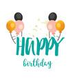 happy birthday balloon background image vector image vector image
