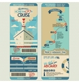 Honeymoon cruise boarding pass vector image