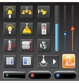 icons smart house vector image