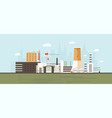 industrial park site zone or area vector image vector image