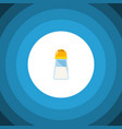 isolated shaker flat icon spicy element vector image