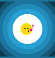 isolated sing flat icon descant element vector image