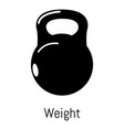 kettlebell icon simple black style vector image vector image