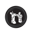 krav maga silhouettes two abstract fighters vector image vector image