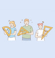 learning geometry and school lifestyle concept vector image