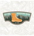 let adventure begin sammer camp badge for vector image vector image