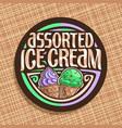 logo for italian ice cream vector image vector image