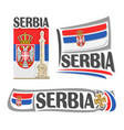logo for serbia vector image vector image