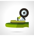 Longboard store flat icon vector image vector image