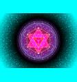 metatrons cube flower life sacred geometry vector image vector image