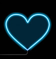 neon glowing heart isolated on a black background vector image vector image