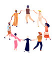 people round dance adults friends circle in vector image