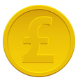 Pound sterling coin vector image vector image