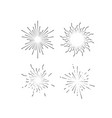 radial light rays or sunbeams vector image vector image