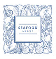 seafood market banner vector image vector image